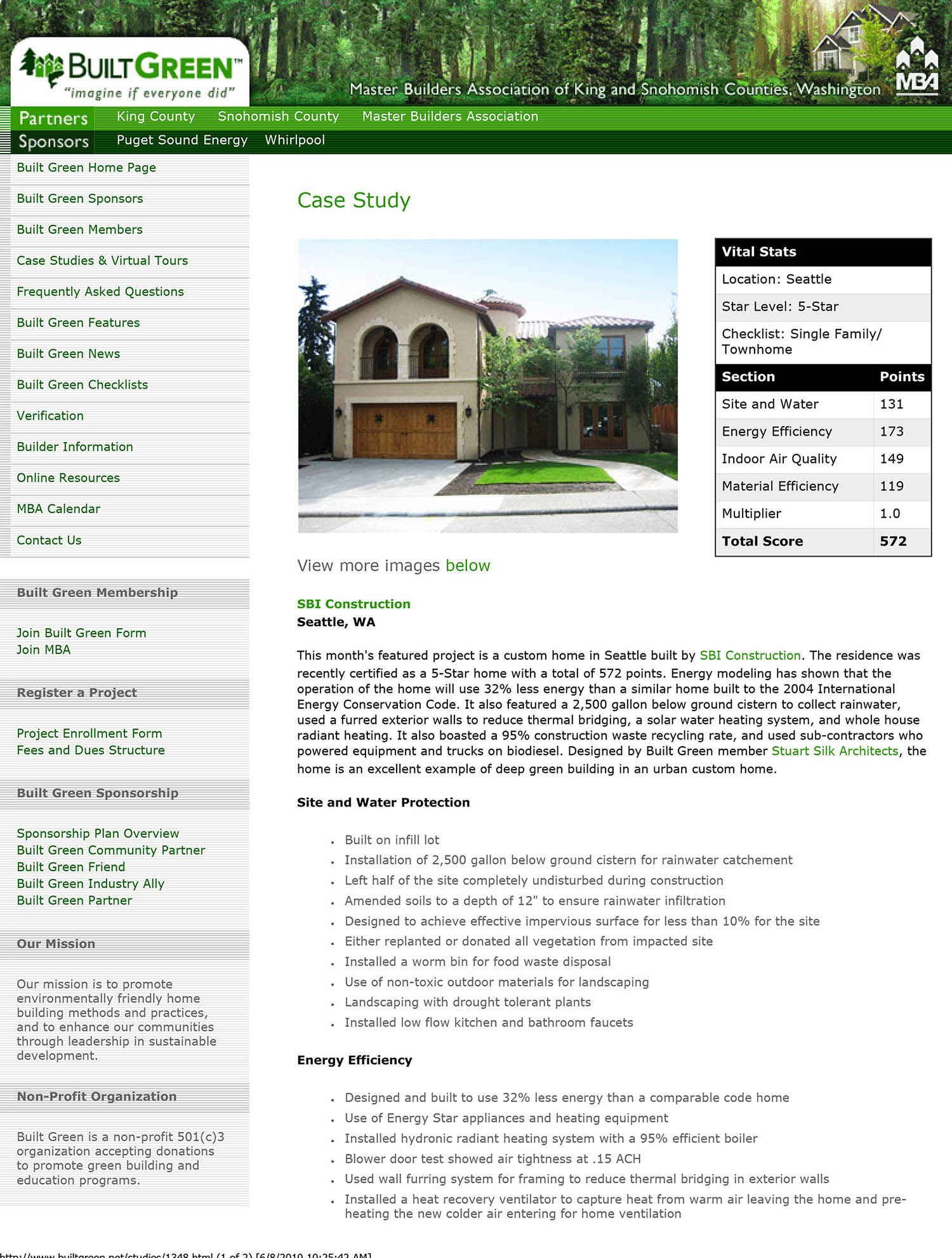 Broadmoor Project – Built Green Case Study